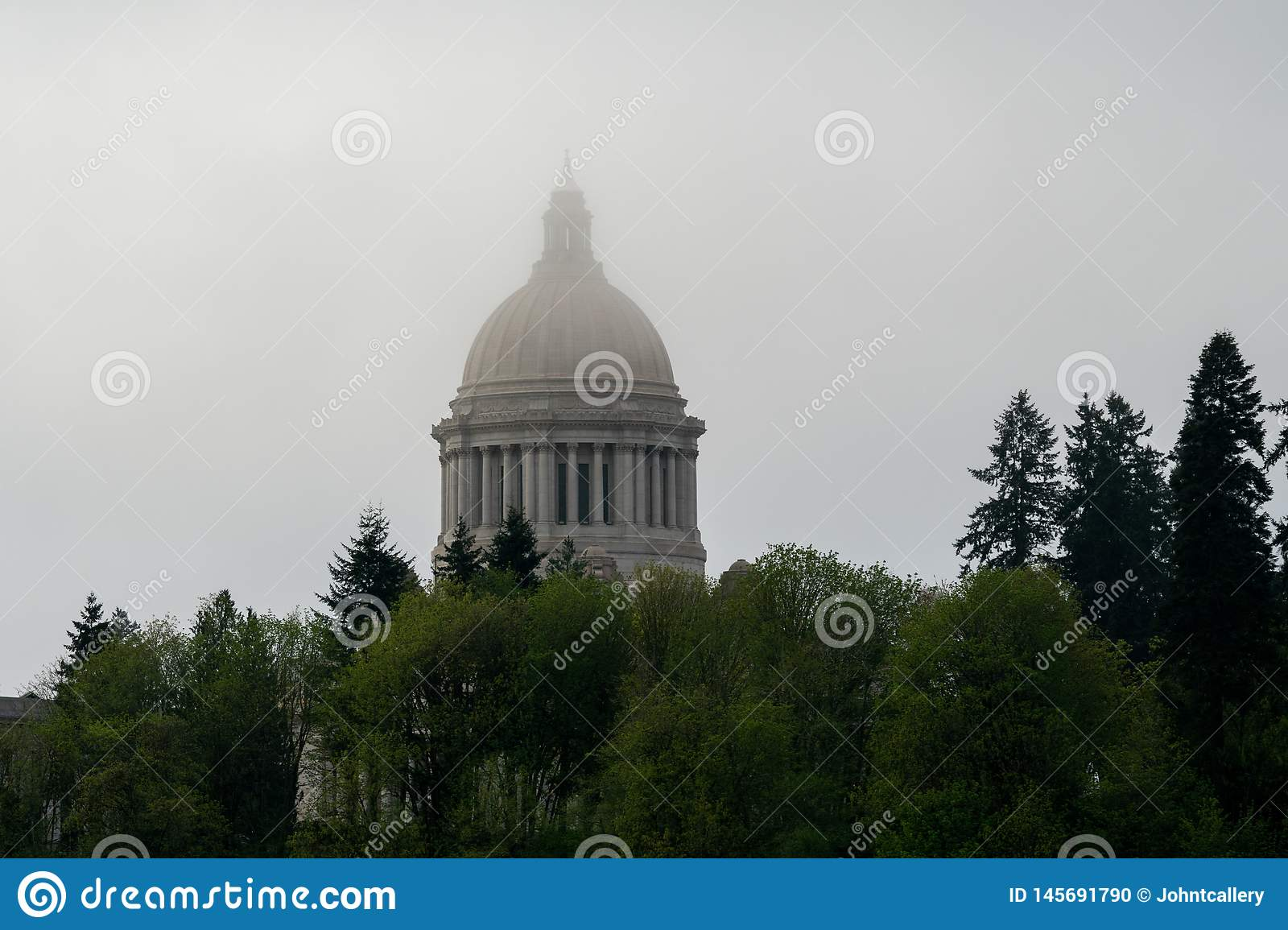 Brouillard de Washington State Capitol Building In