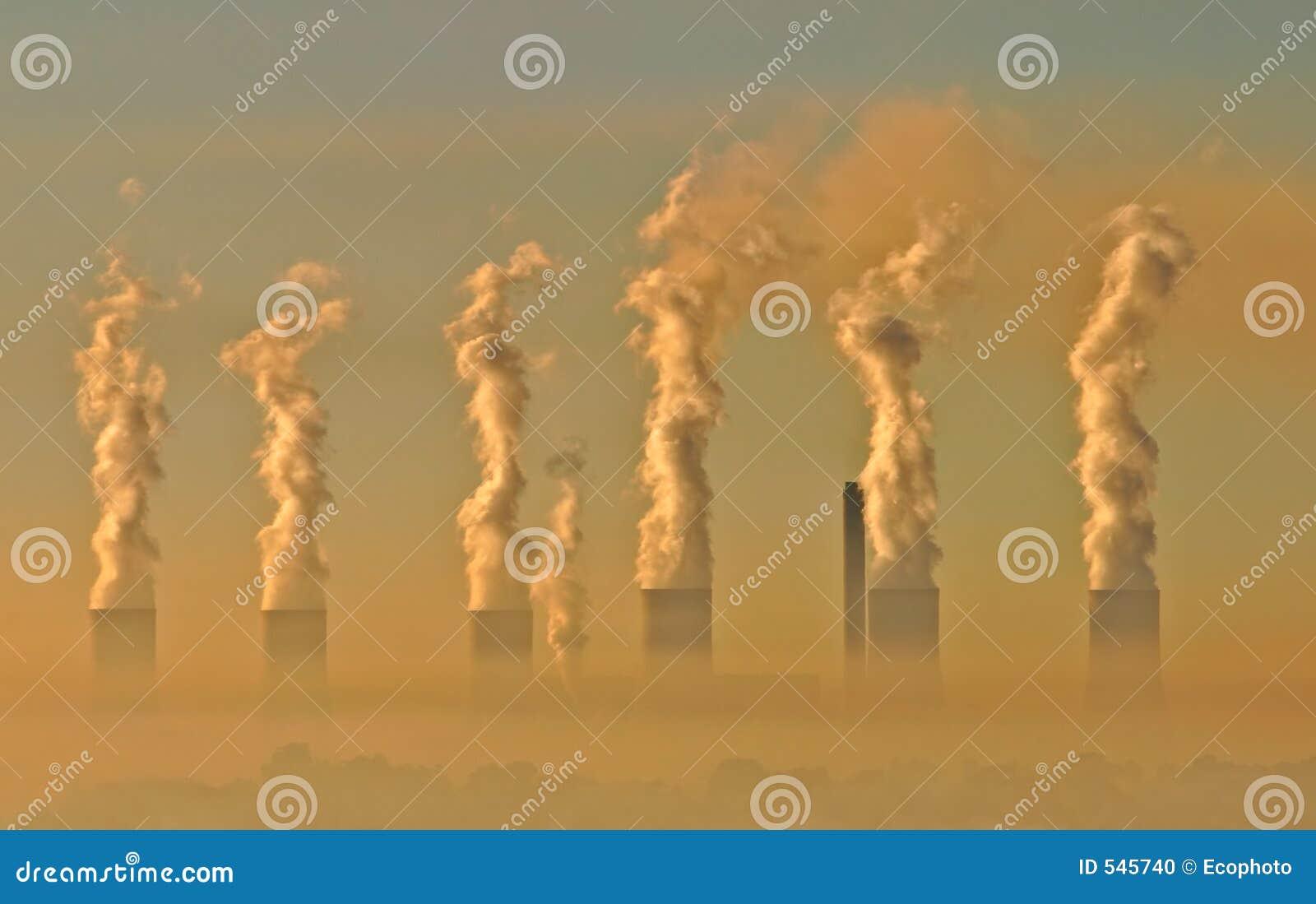 Brouillard enfumé industriel