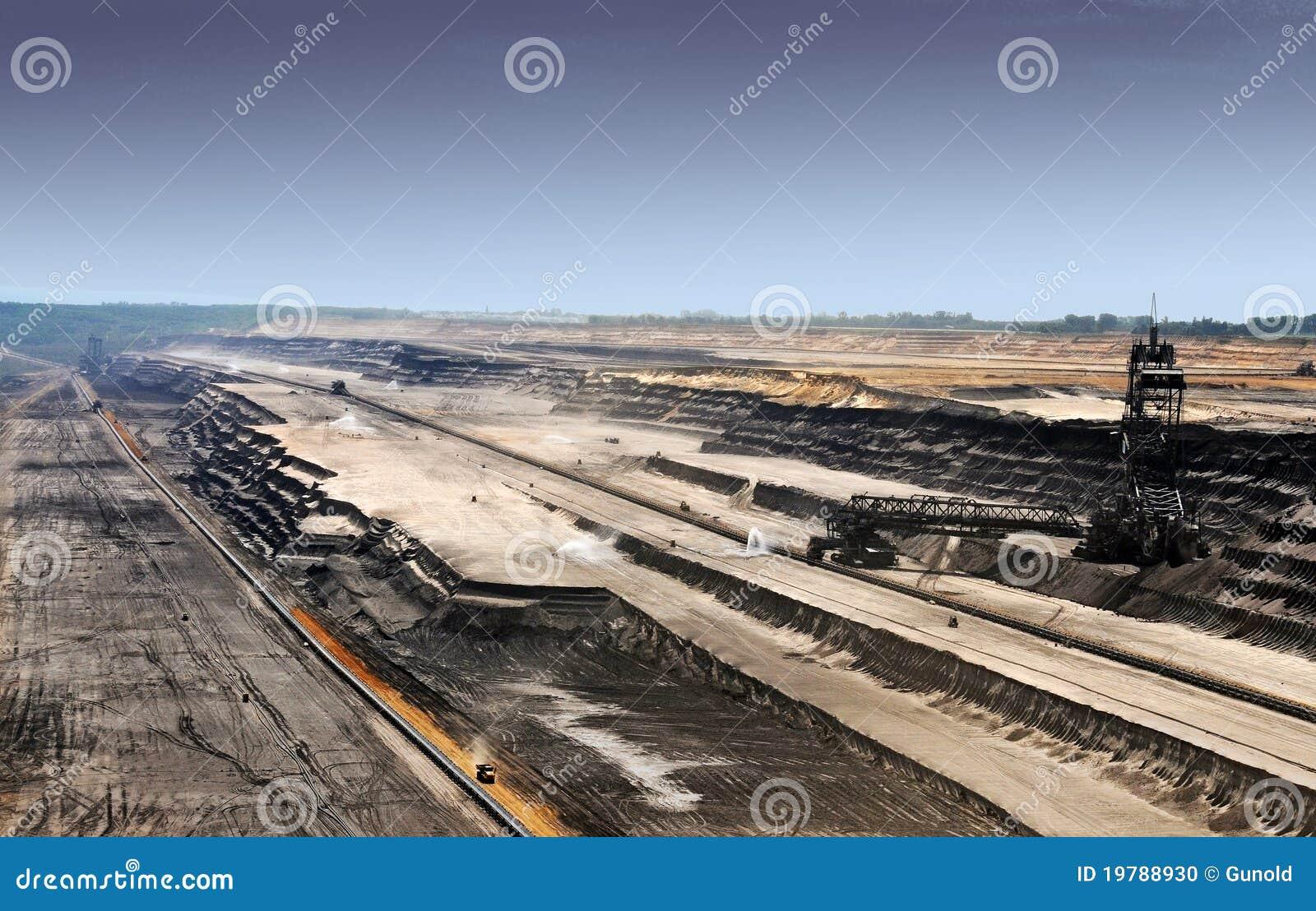 Brown öppen coalmining