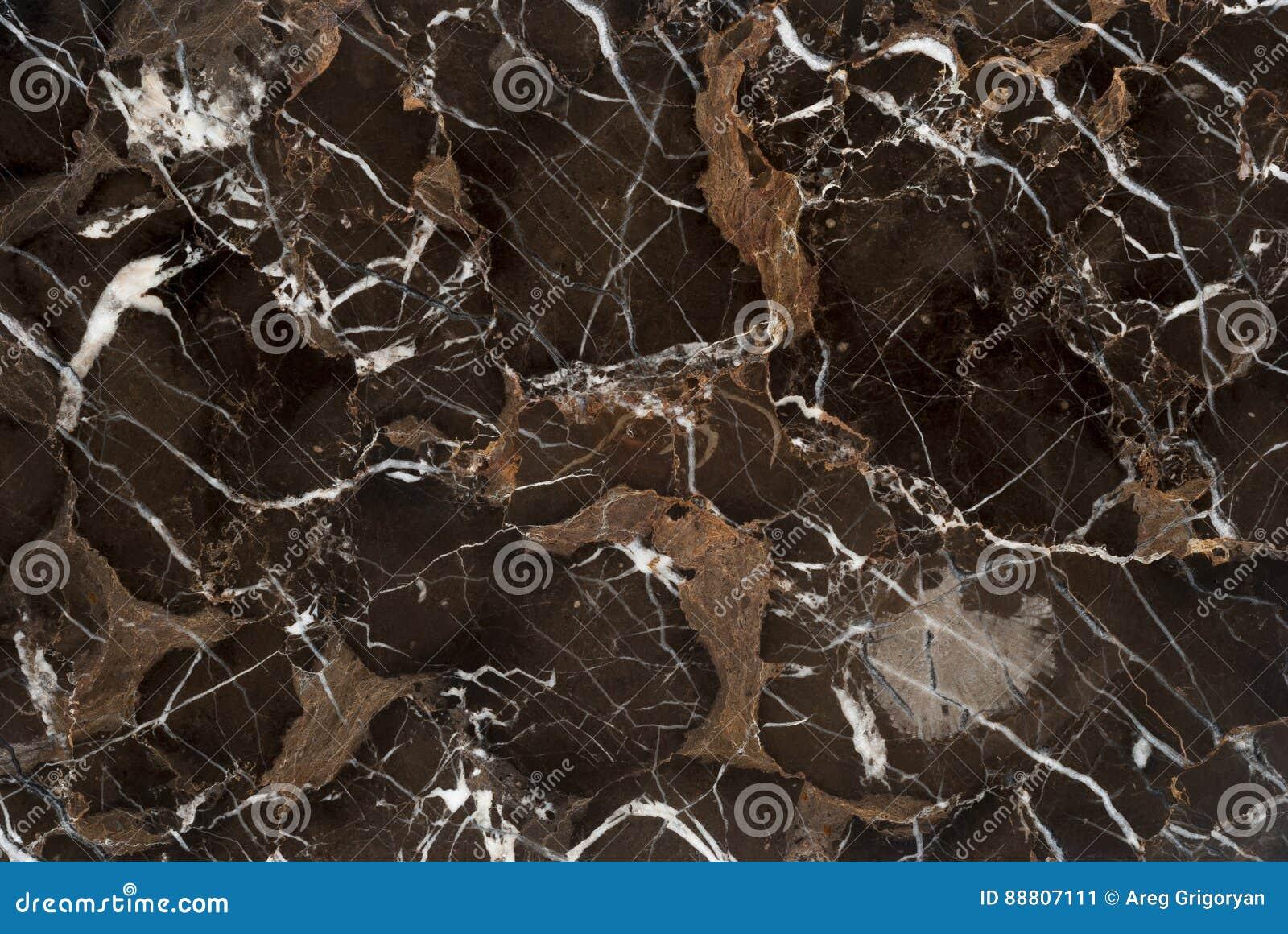 Brown żyły marmuru kamień