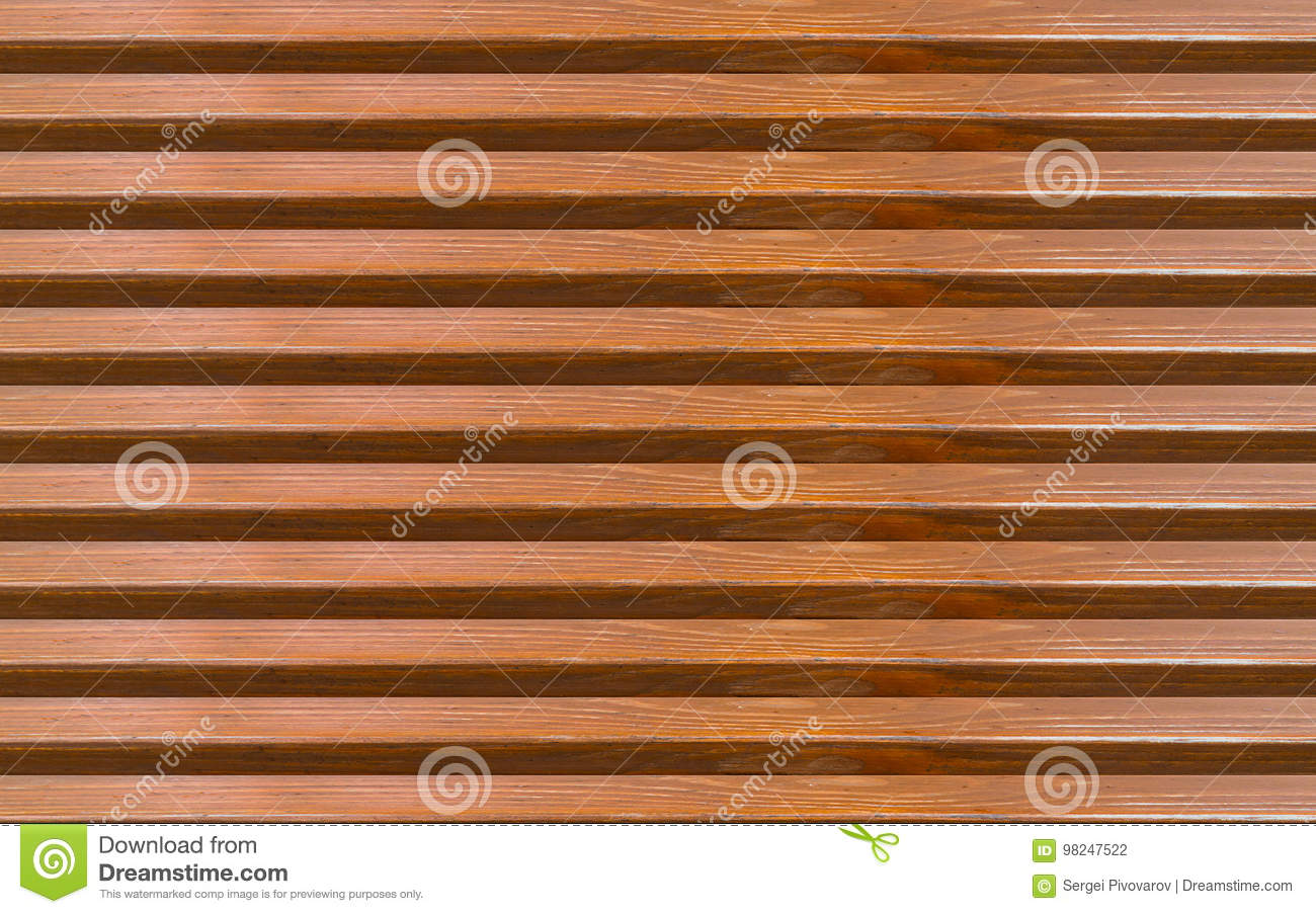 Brown abstract wooden background horizontal boards with empty space between elements endless