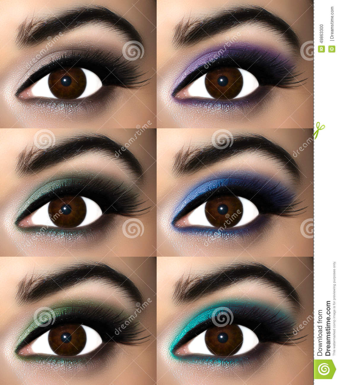 Brown Augen Make Up Stockfoto Bild Von Kosmetik Blende 49863300