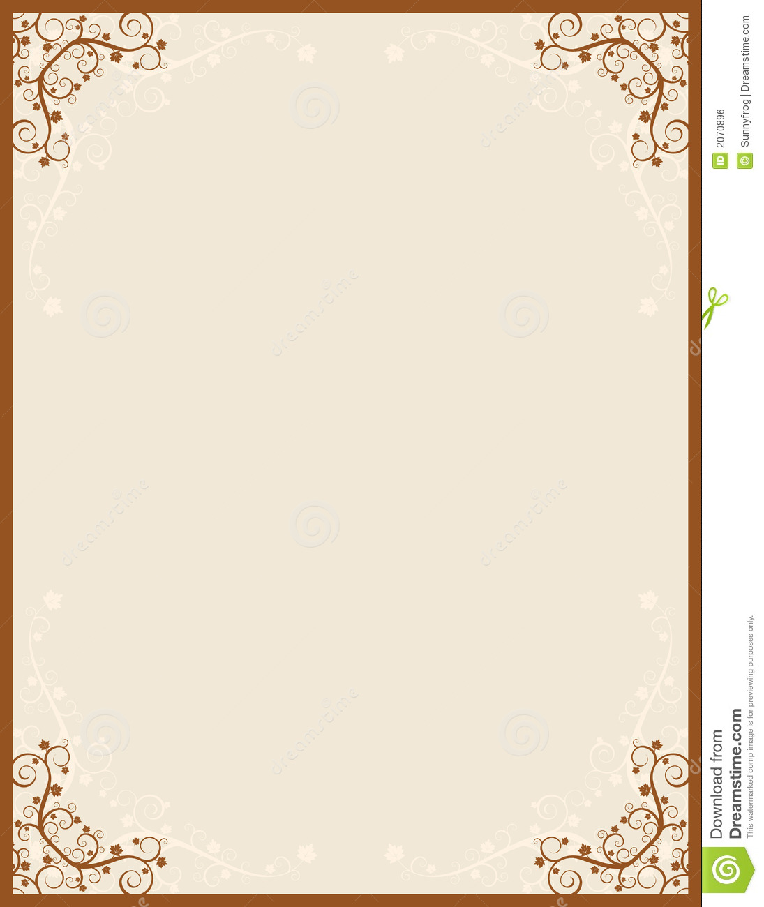 Brown Background Vector Royalty Free Stock Image