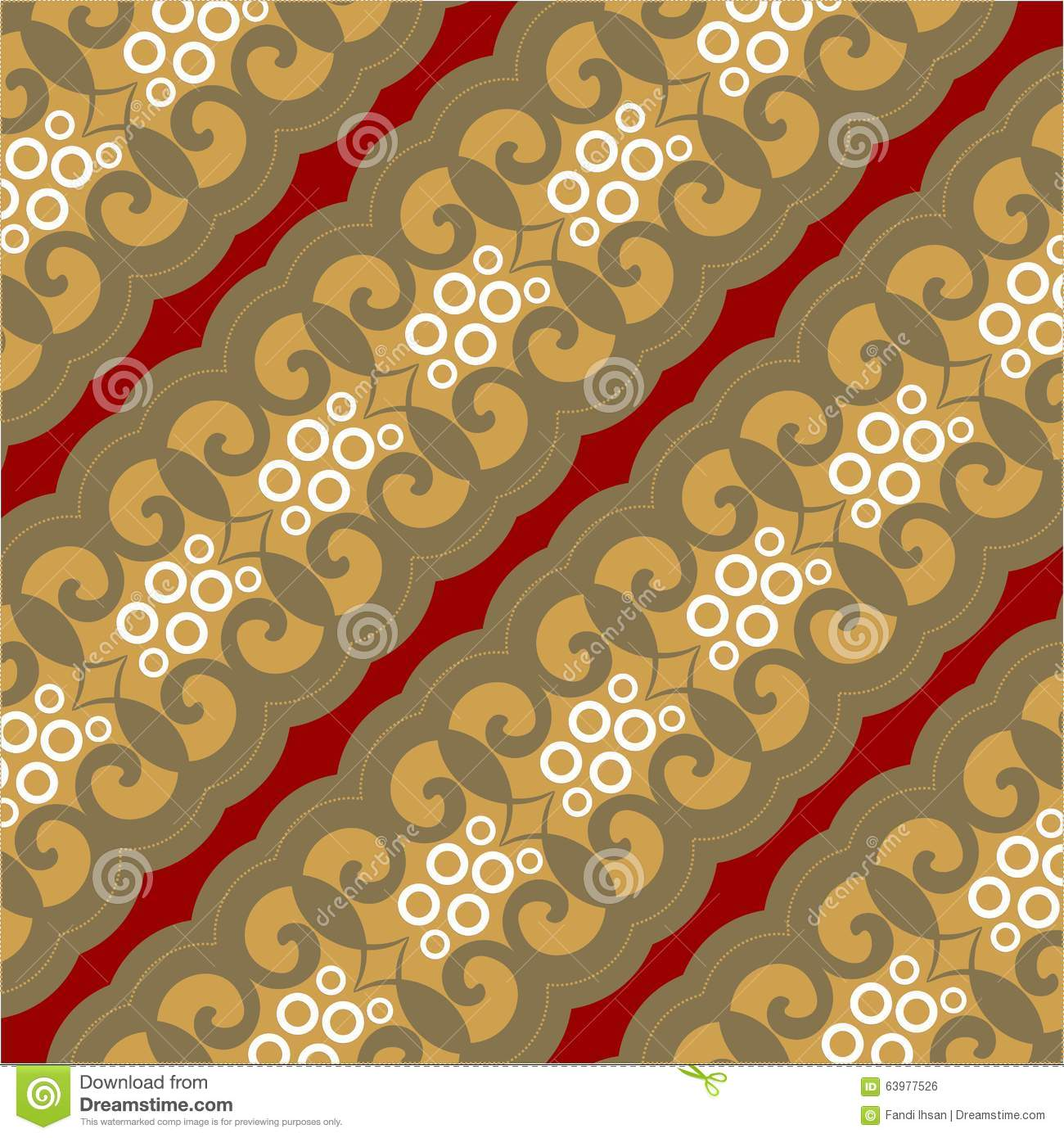 Nahtlose Batik Muster Tapete Backgroud Brown