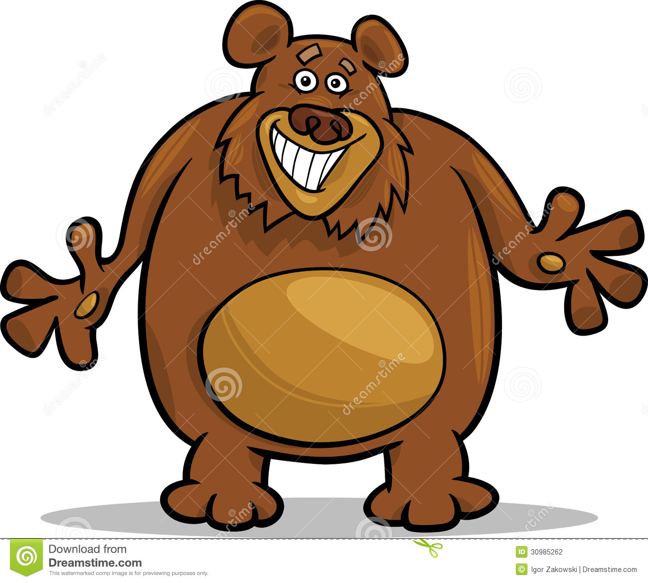 Brown Bear Cartoon Illustration Stock Photography - Image: 30985262