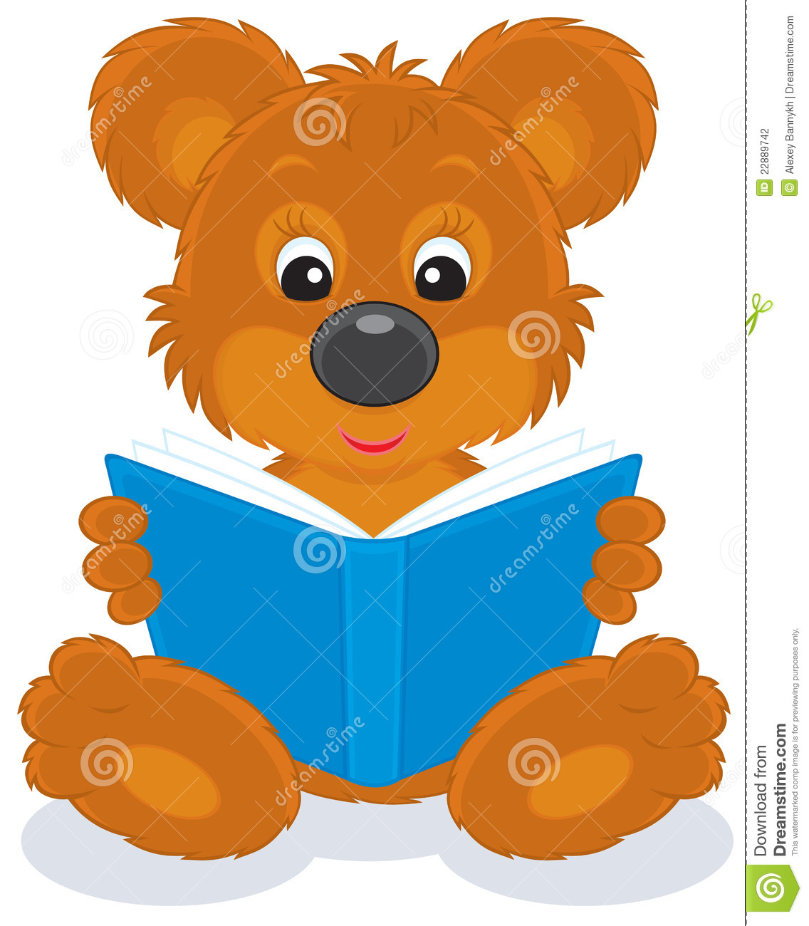 bear with books clipart