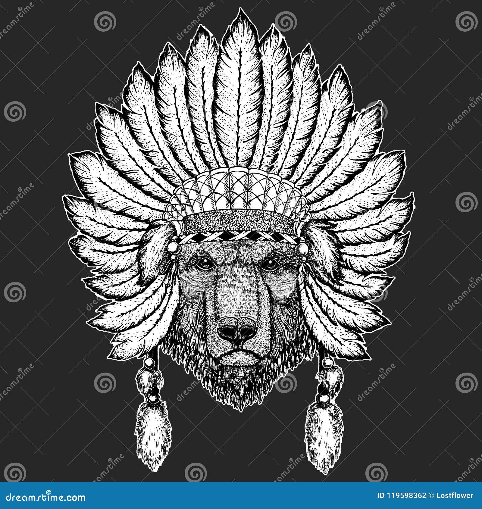 e851585e82716 Brown bear Russian bear Hand drawn image for tattoo, t-shirt, emblem,  badge, logo, patch