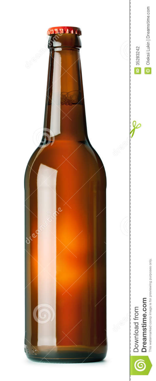 Brown beer bottle stock photography image 35283242