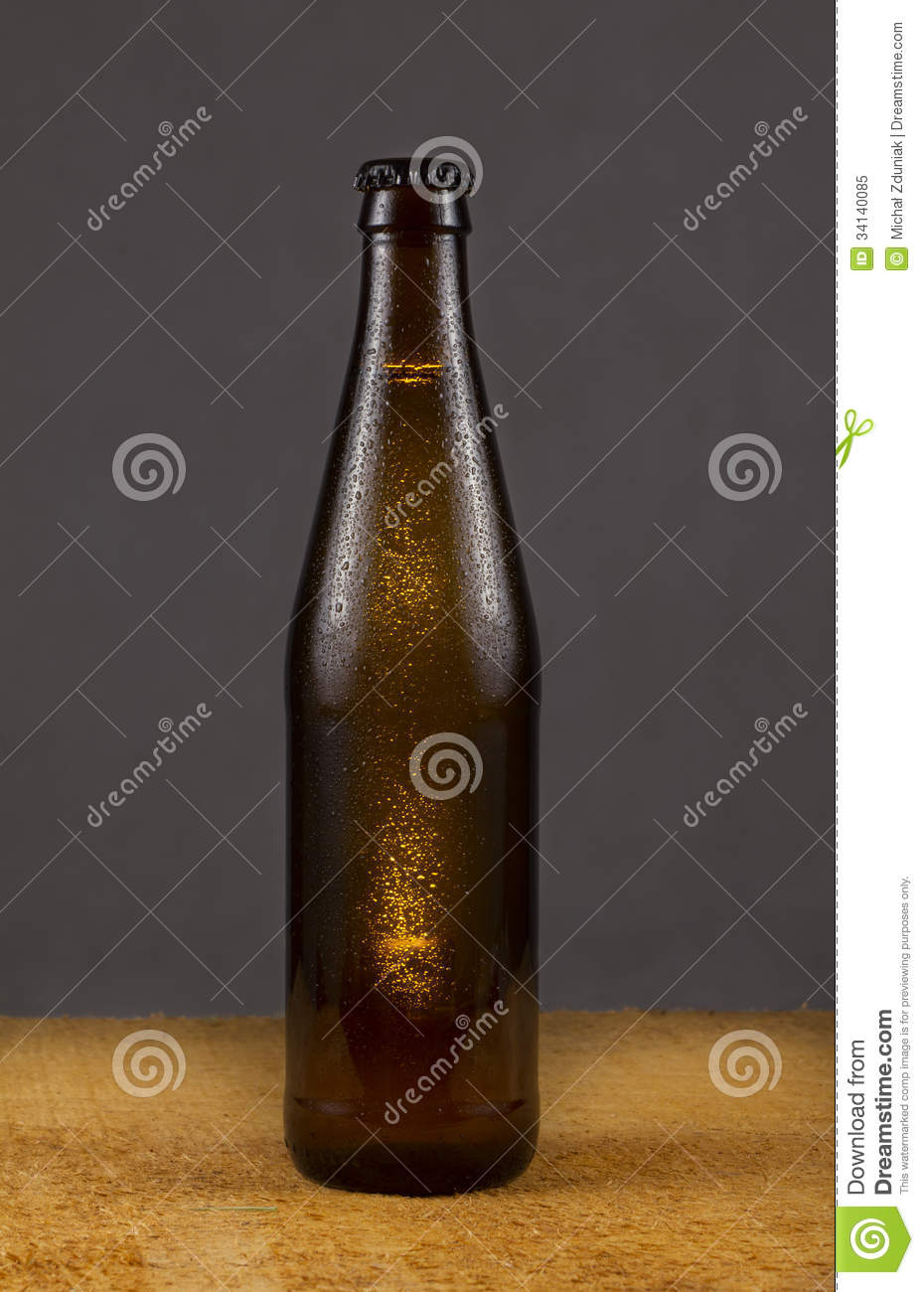 Brown beer bottle royalty free stock photo image 34140085