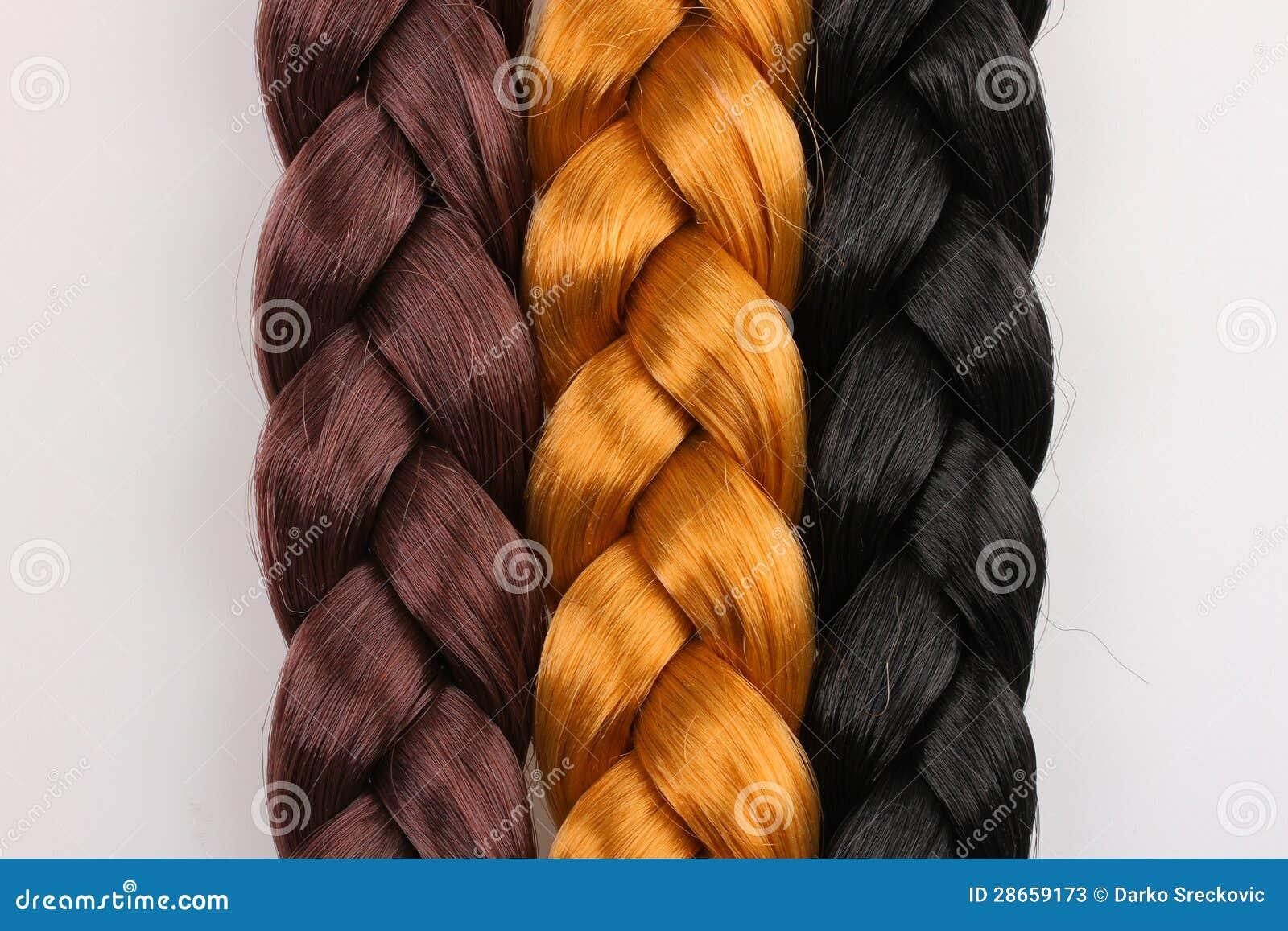 Black Brown and Blonde Hair