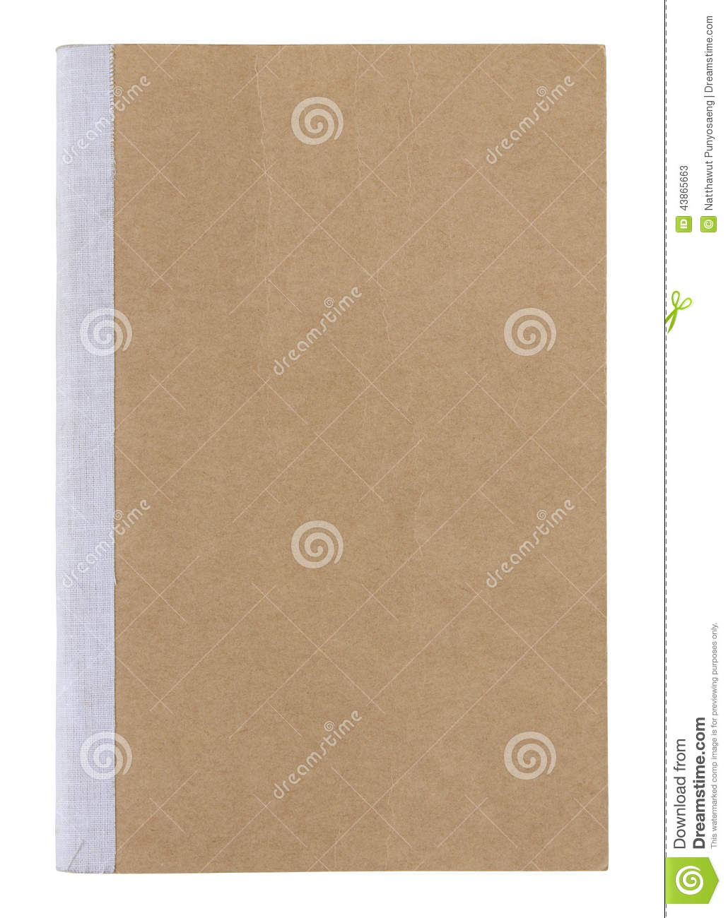 Book Cover White Background ~ Brown book cover isolated on white stock photo image