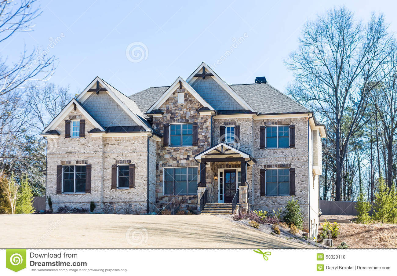 fancy house in winter stock image image of house dream 18825171