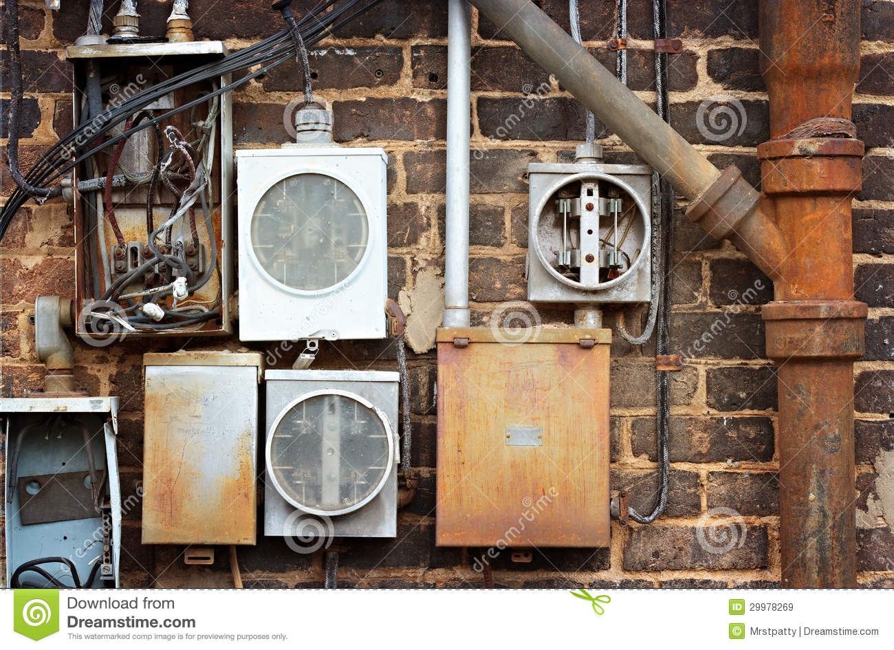 Electrical Power Meter Boxes : Electrical meter boxes royalty free stock images image