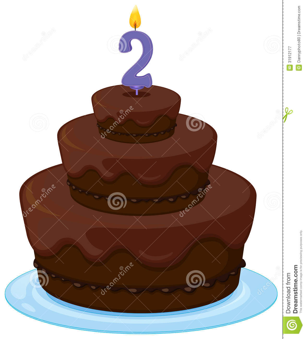 Brown Cake Royalty Free Stock Photography