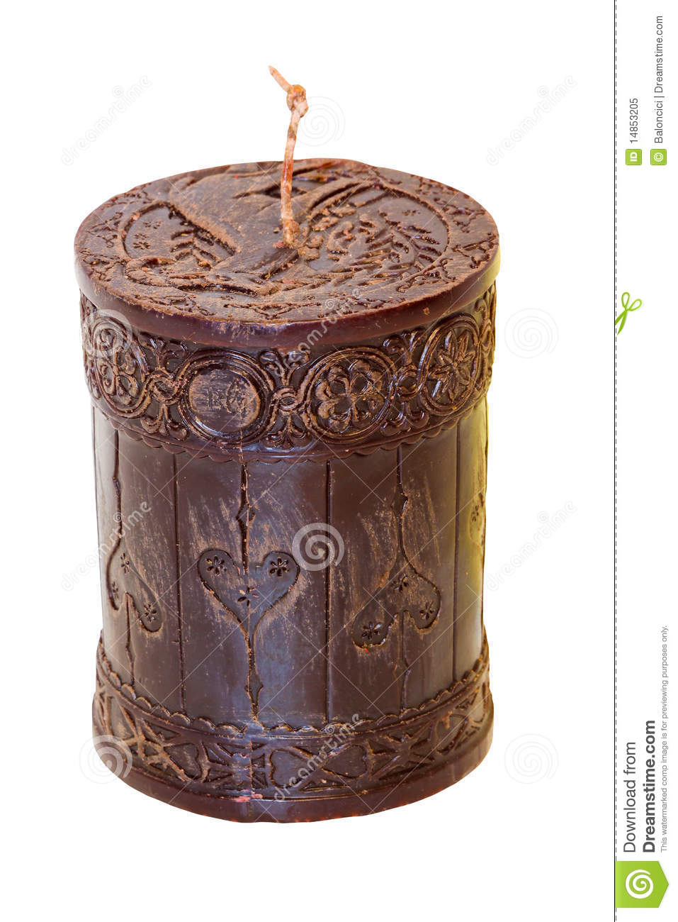 Brown candle