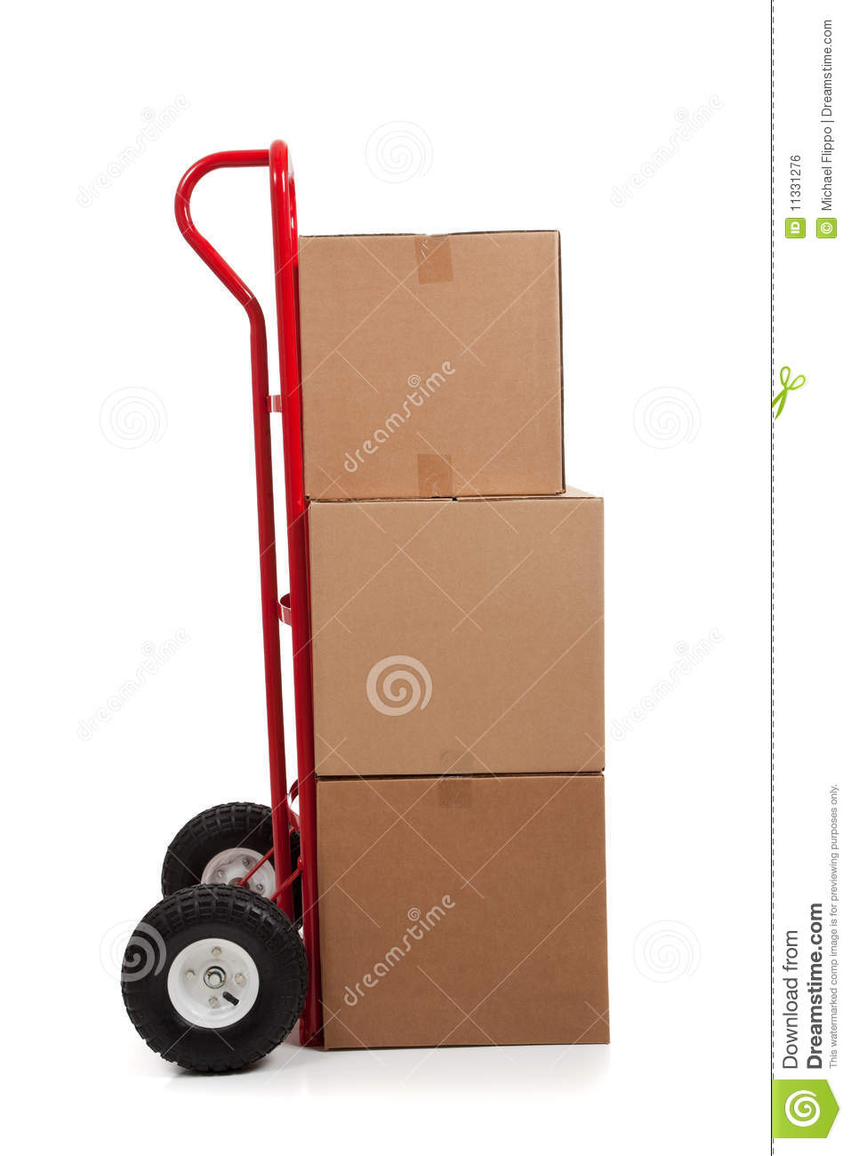 Brown cardboard moving box with a fragile sticker