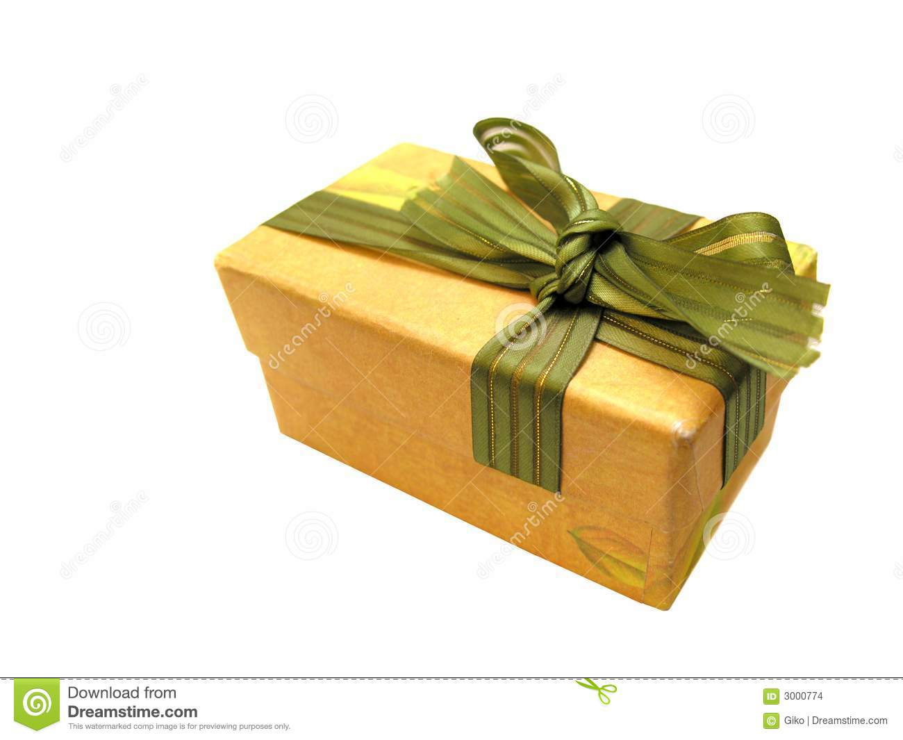 Brown cartoon gift box stock photo image of objects blue