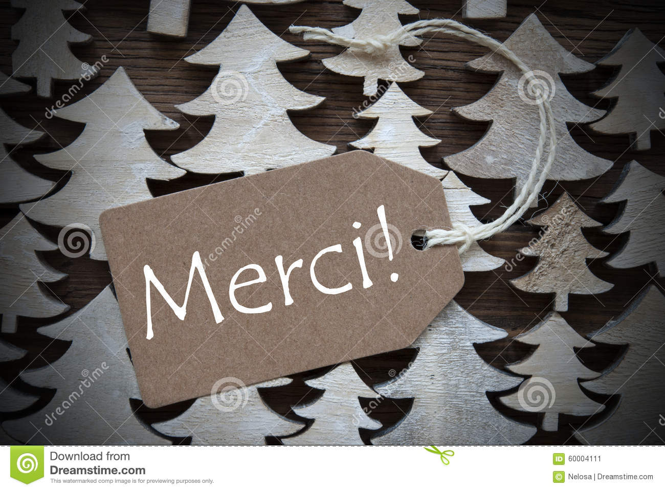 close up of label with french text merci royalty free stock photography. Black Bedroom Furniture Sets. Home Design Ideas