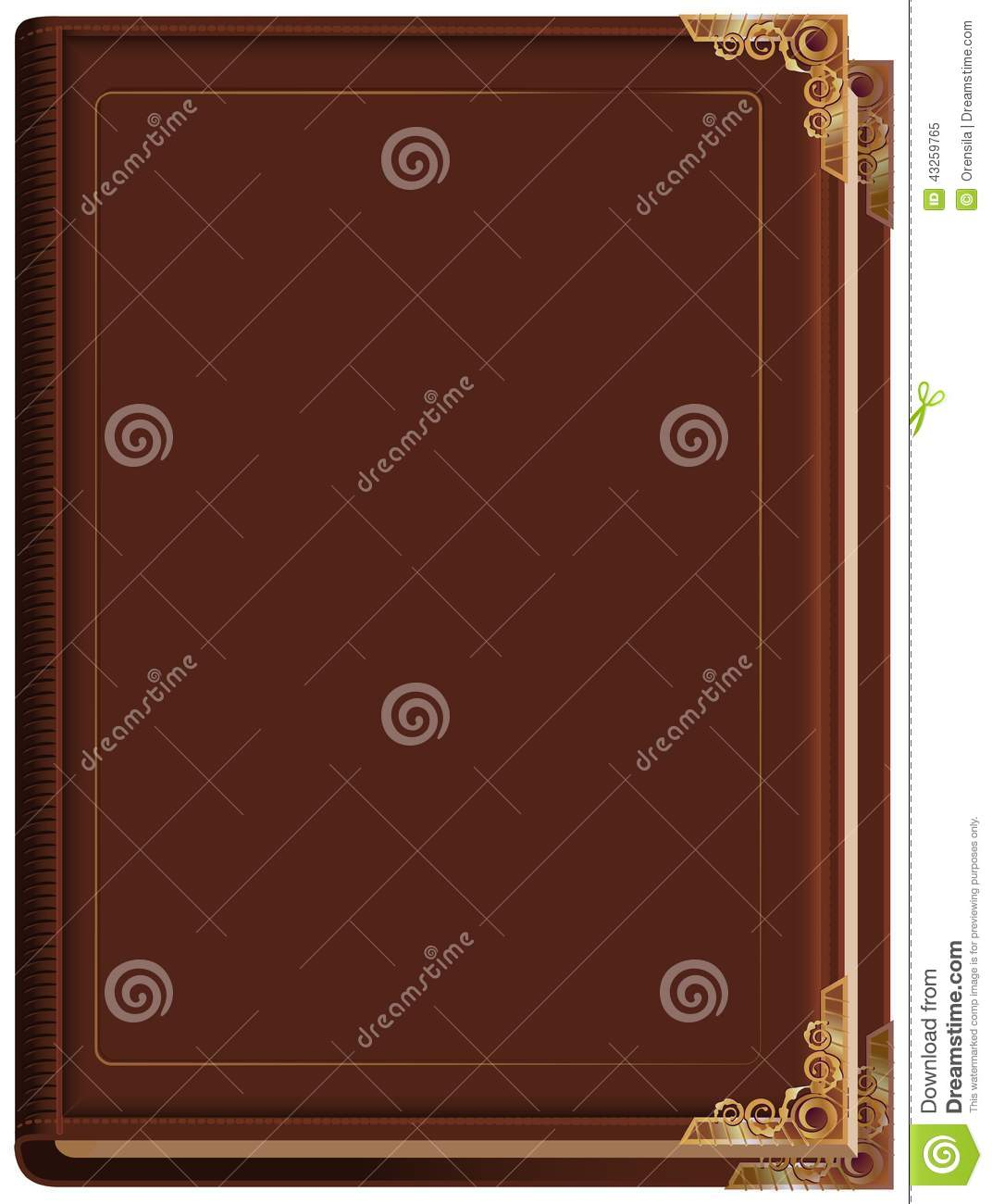 brown closed book stock vector illustration of blank