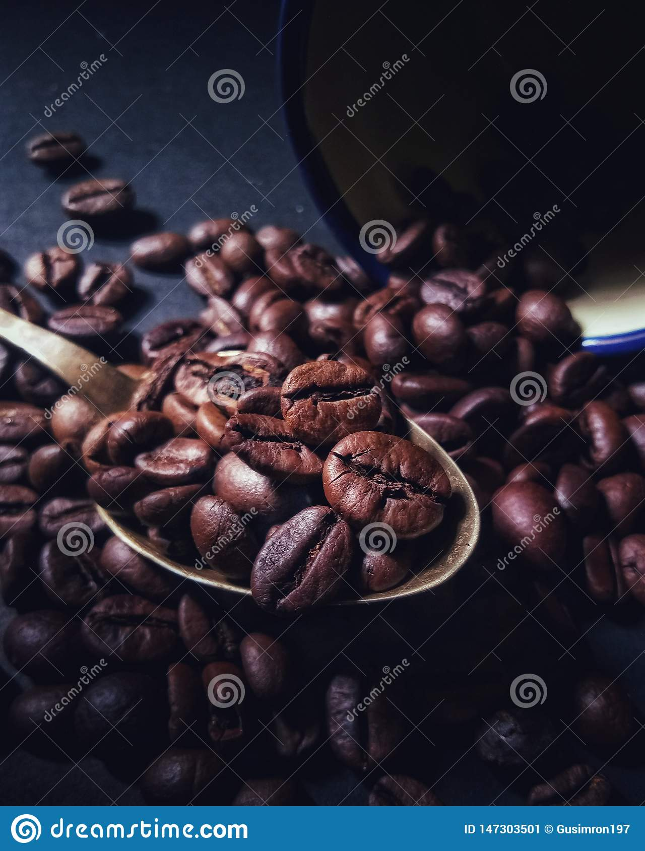 brown coffee beans ready to roll