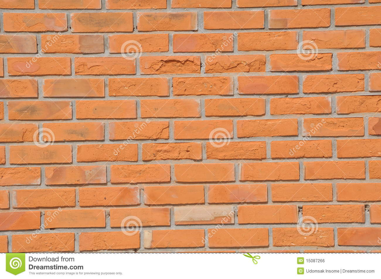 Brown Color Brick Wall Royalty Free Stock Image