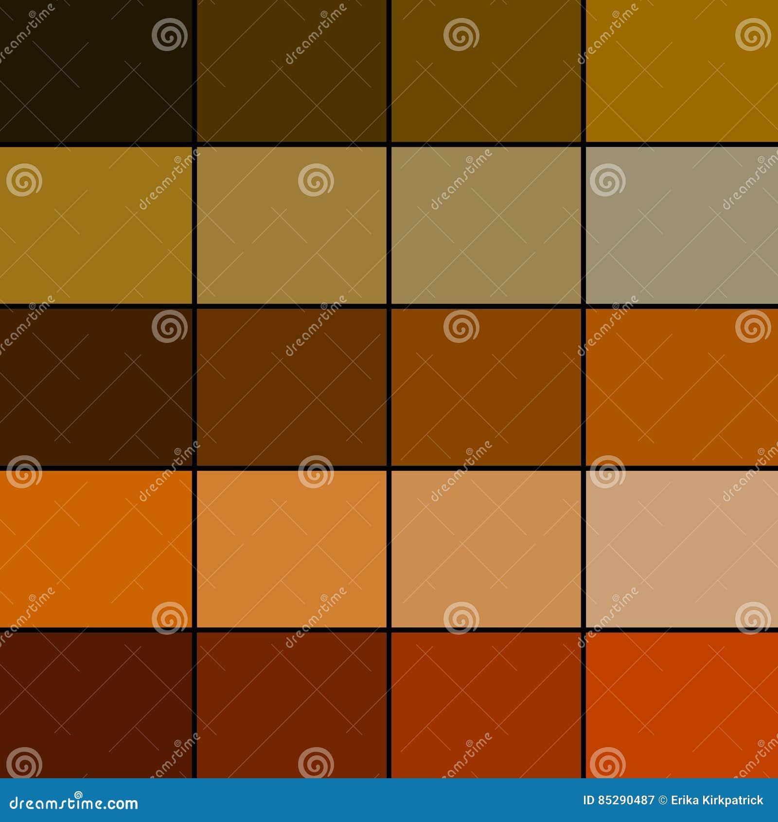 Brown Color Palette Stock Illustration Illustration Of Collection