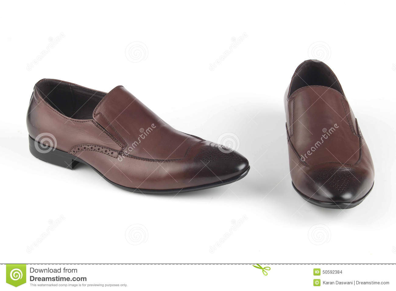 Brown colour leather shoes stock photo. Image of shine - 50592384