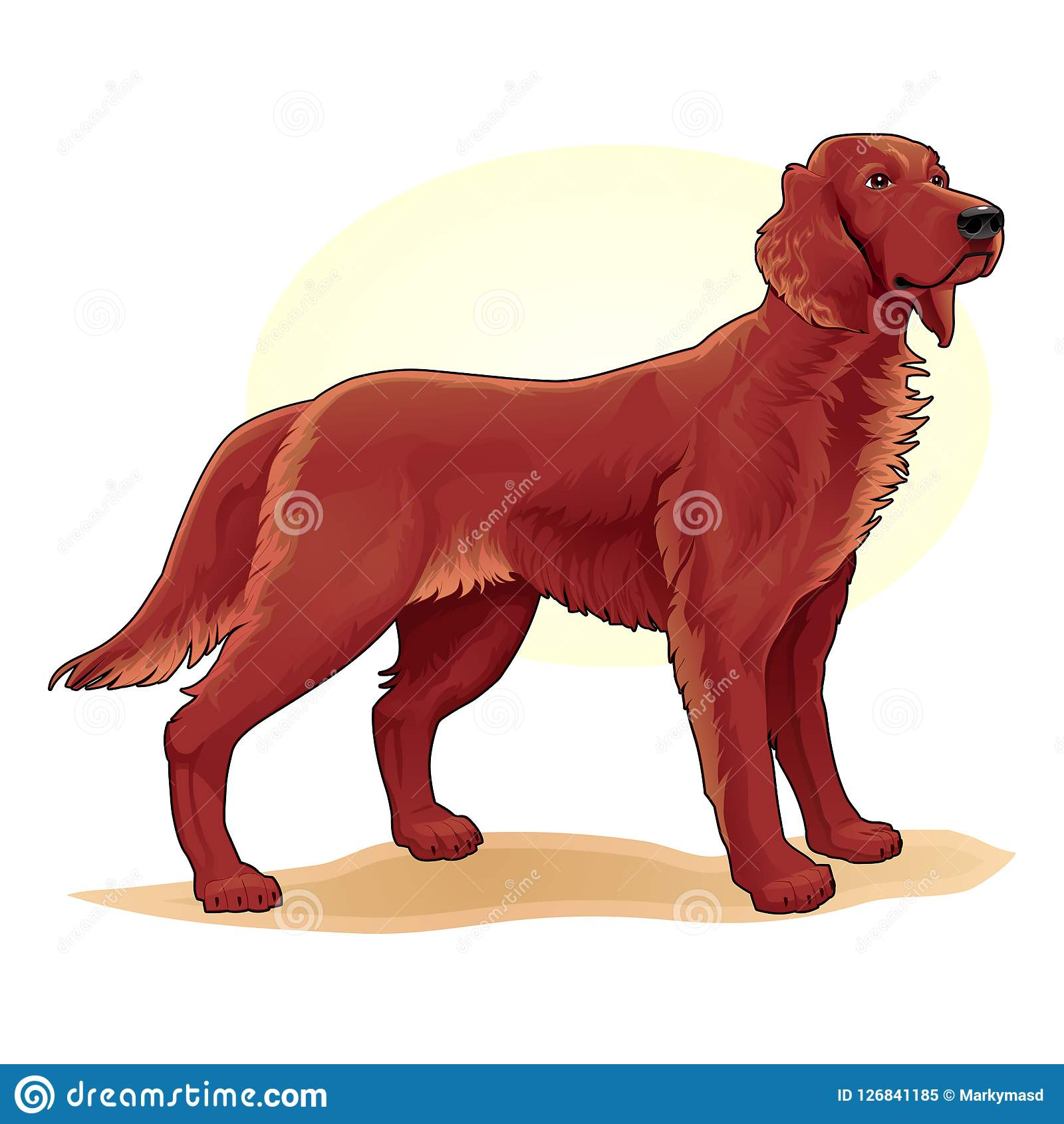 Brown Coloured Dog Amazing Vector Illustration Cute Funny Cartoon