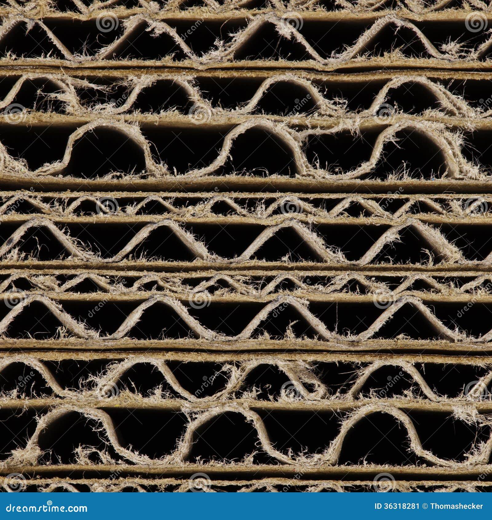 Brown Corrugated Cardboard Stock Image Image Of