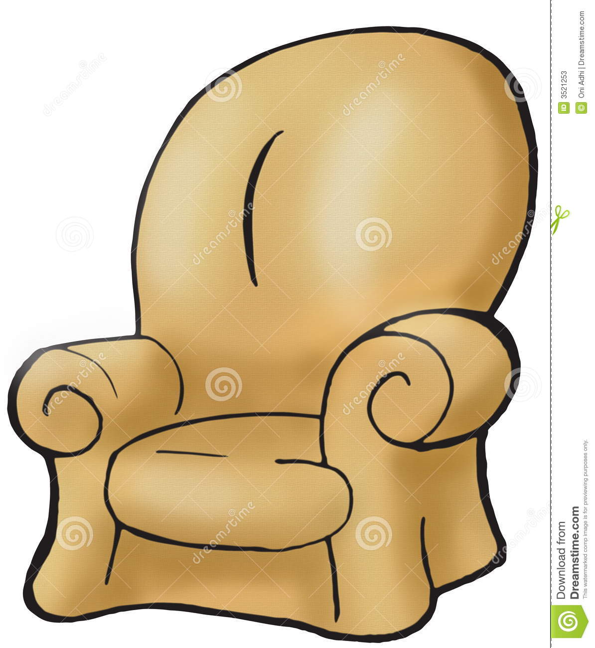 Brown Couch Stock Illustration Illustration Of Brown 3521253