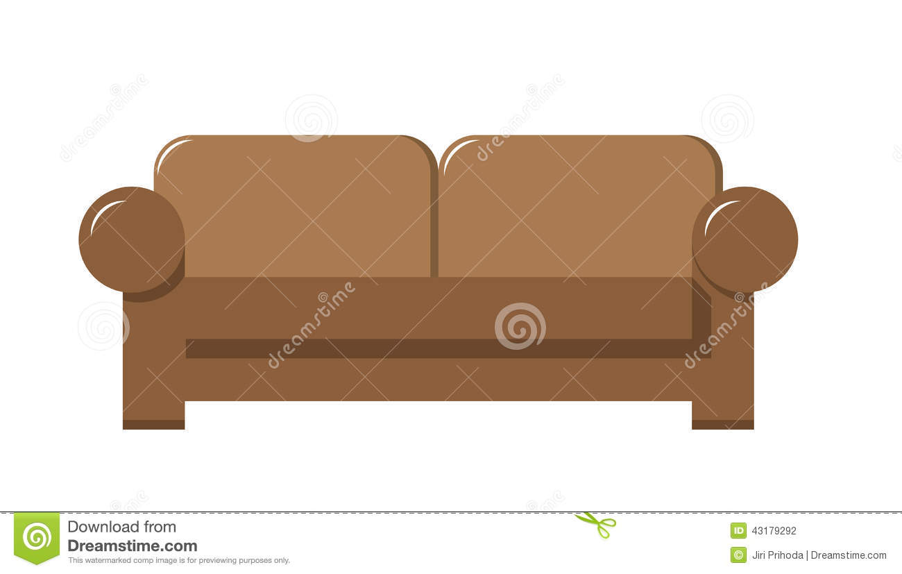 Brown Couch Stock Vector Image 43179292