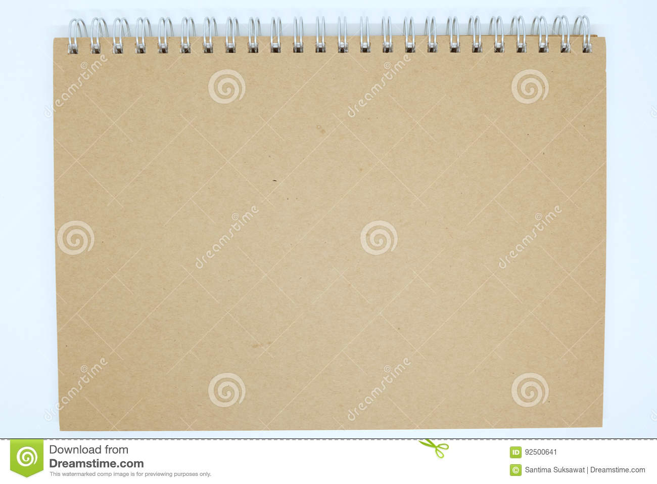 Brown Cover Notebook Background Stock Image Image Of Book Mockup