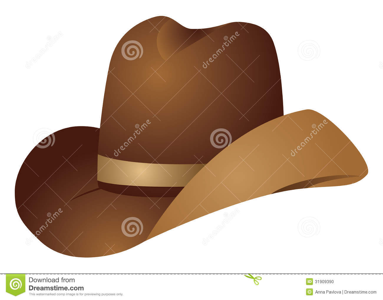 Brown Cowboy Hat Stock Vector Illustration Of