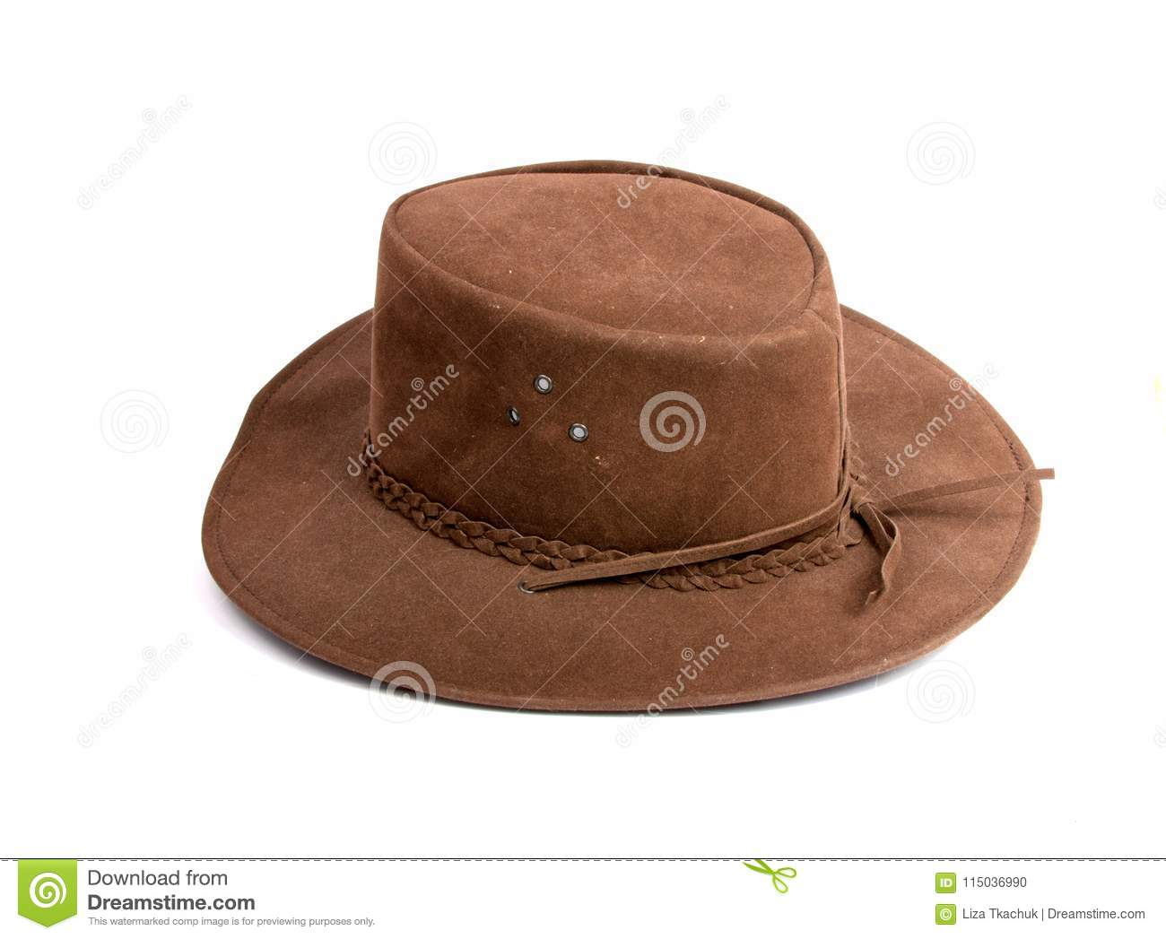 ee472f5f61a Brown cowboy hat isolated stock photo. Image of background - 115036990