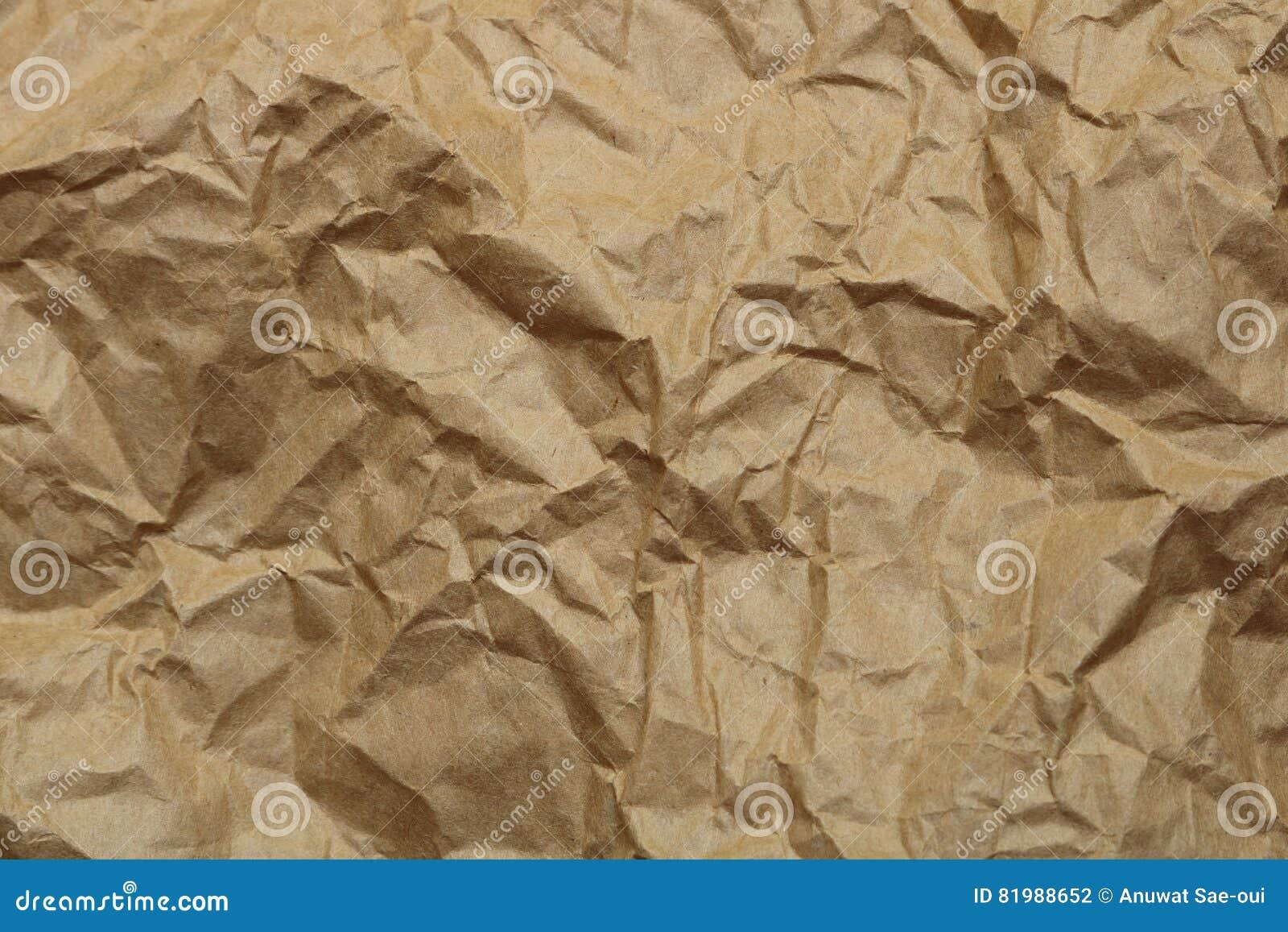 Brown crumpled paper texture