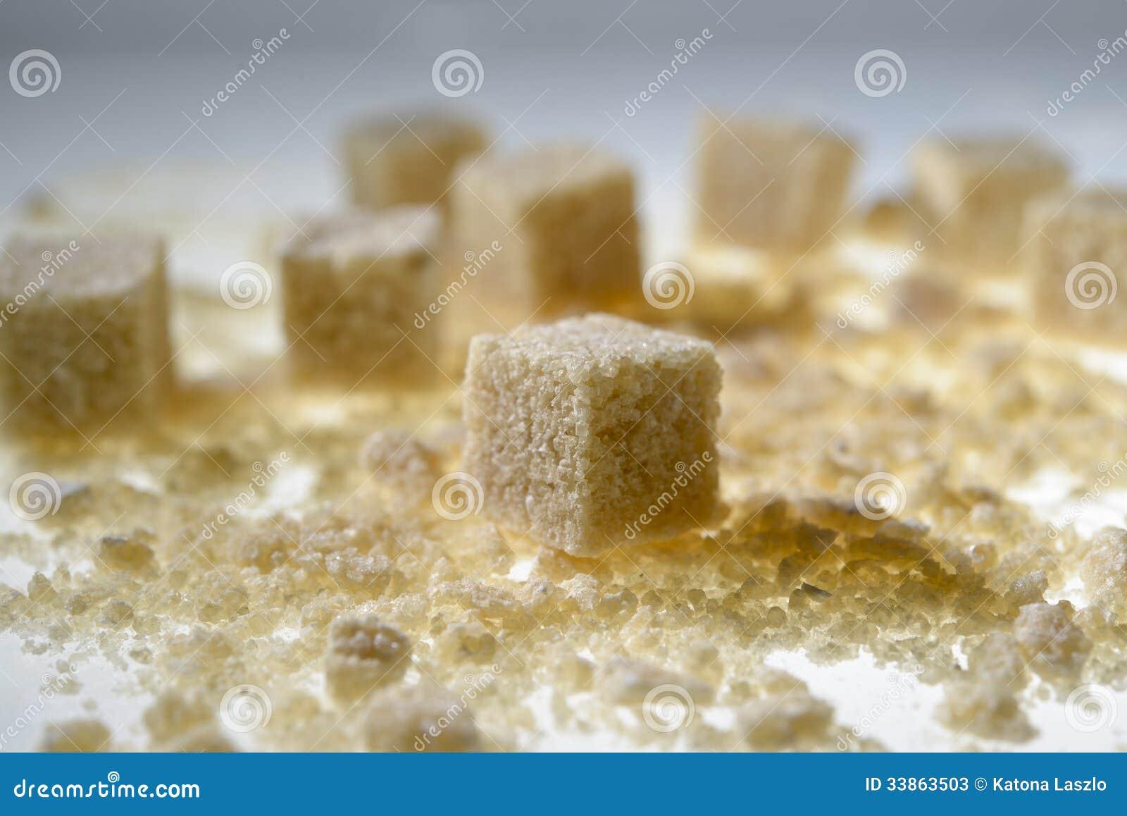 Brown cukieru sześciany