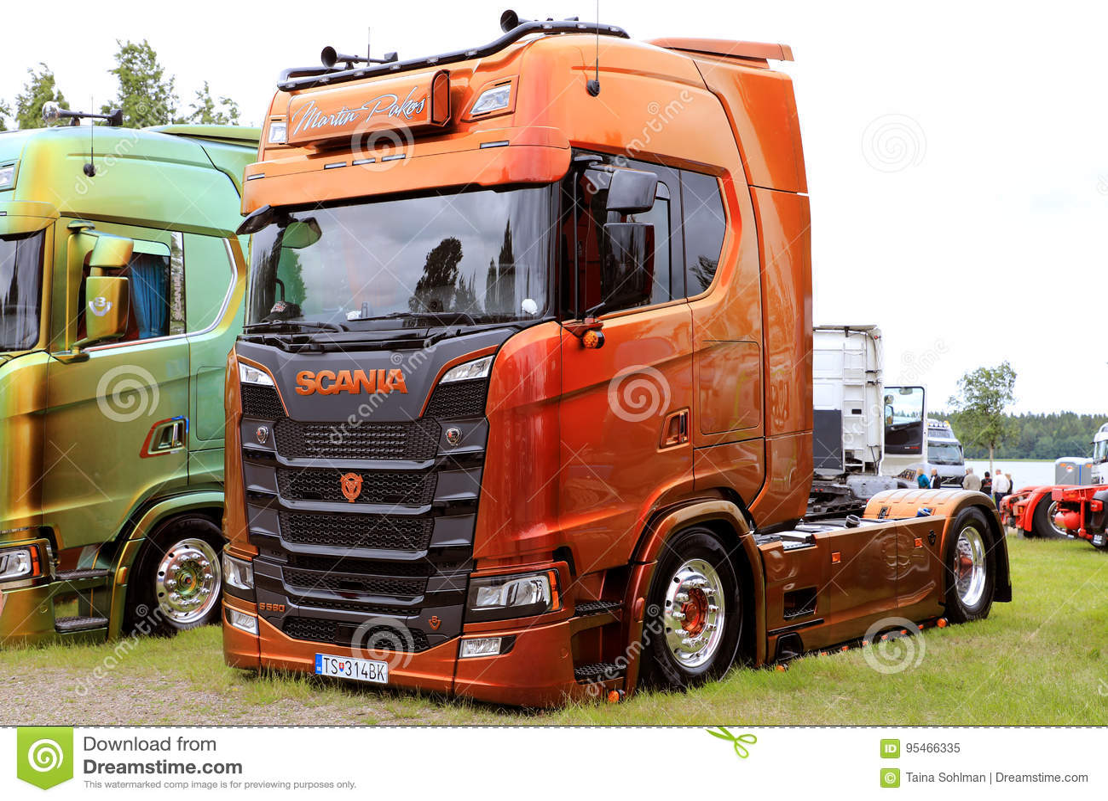 Brown Customized Scania S580 of Martin Pakos Show Truck
