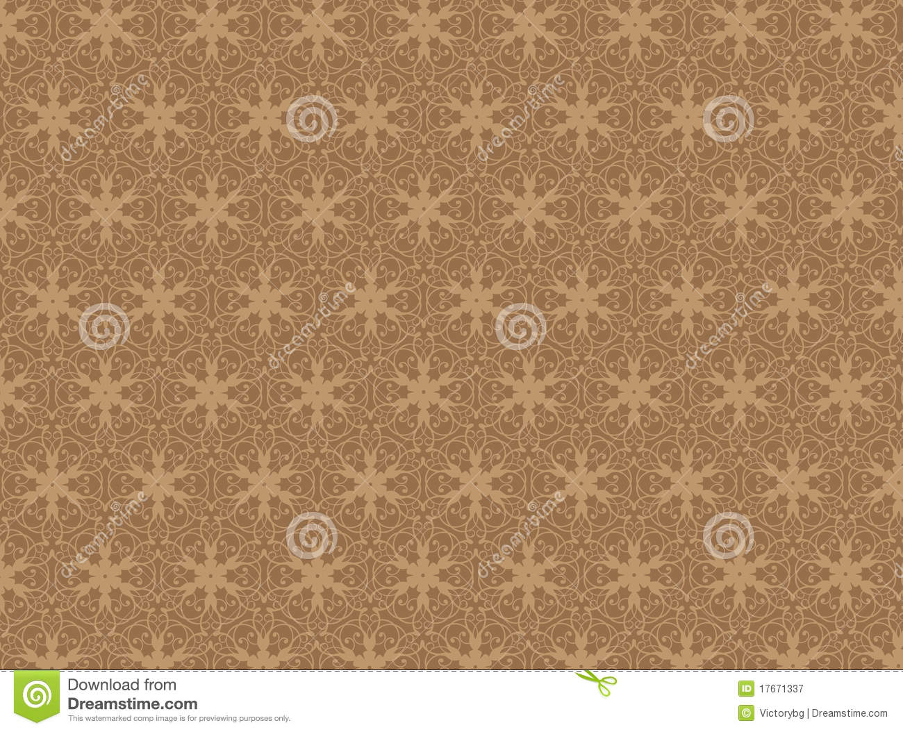 Download Brown Damask Seamless Wallpaper Stock Illustration - Illustration of texture, holiday: 17671337
