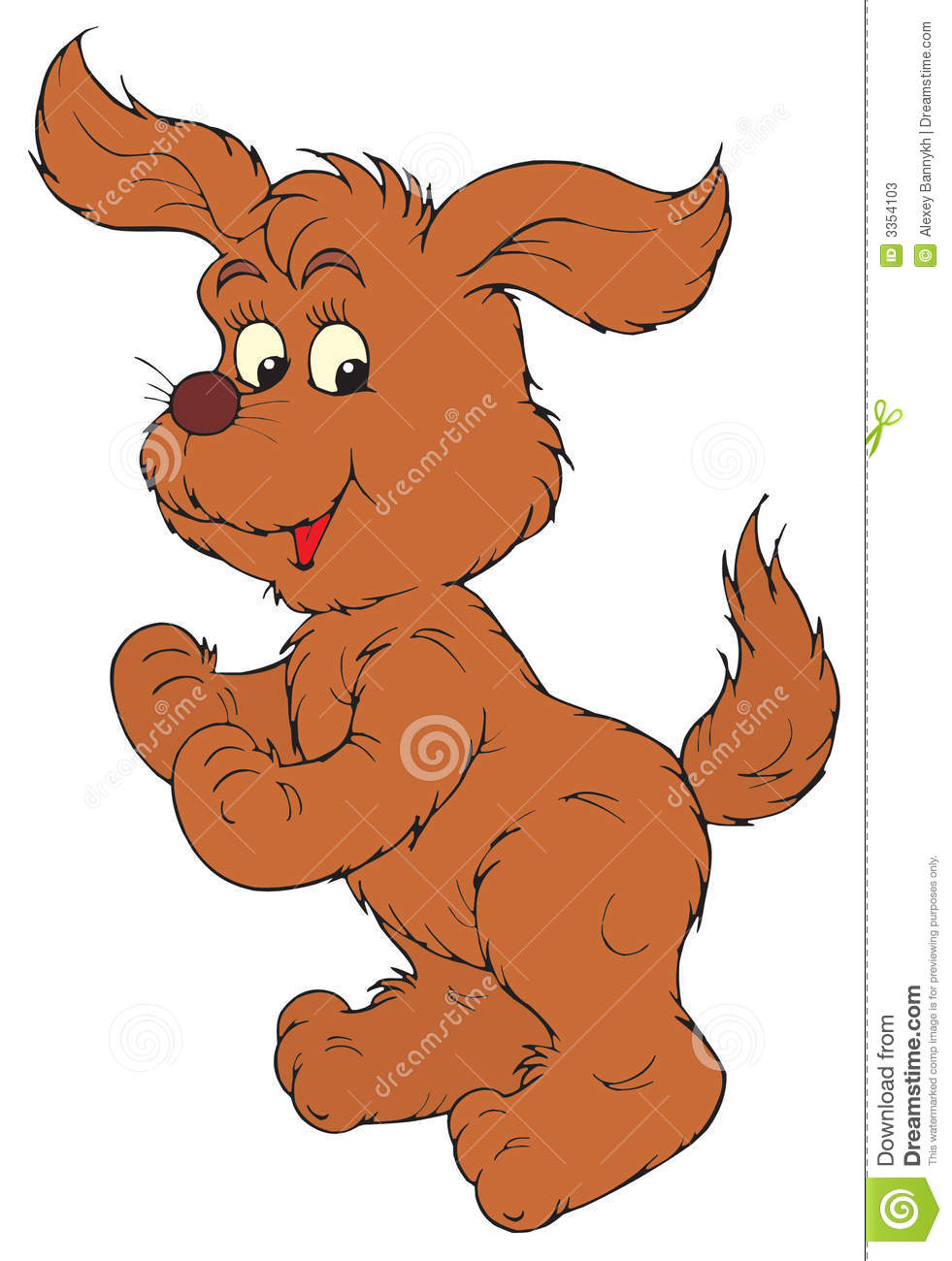 Brown Dog Clipart Brown dog (vector clip-art)