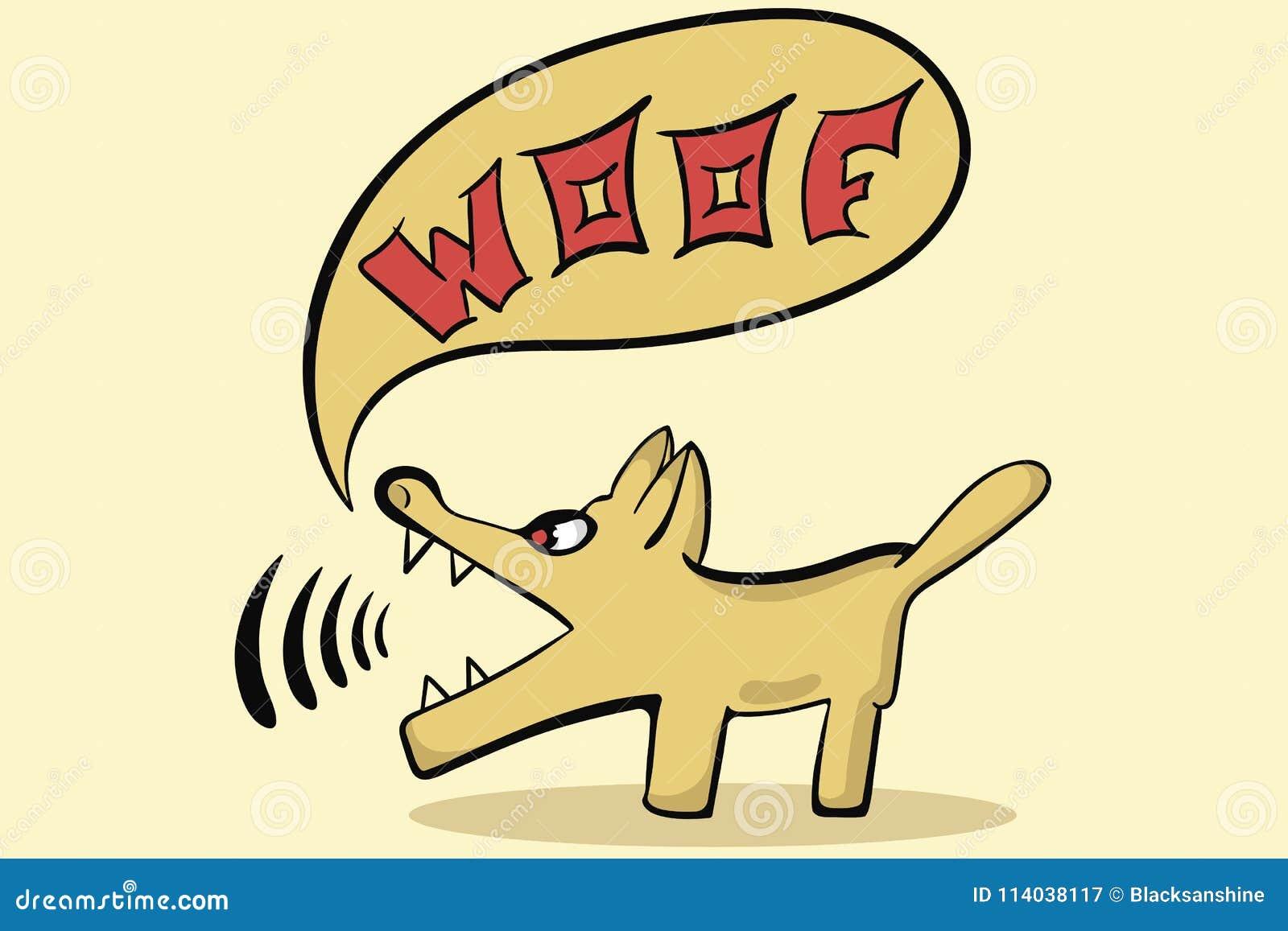 Brown Dog Woof Stock Vector Illustration Of Labrador 114038117