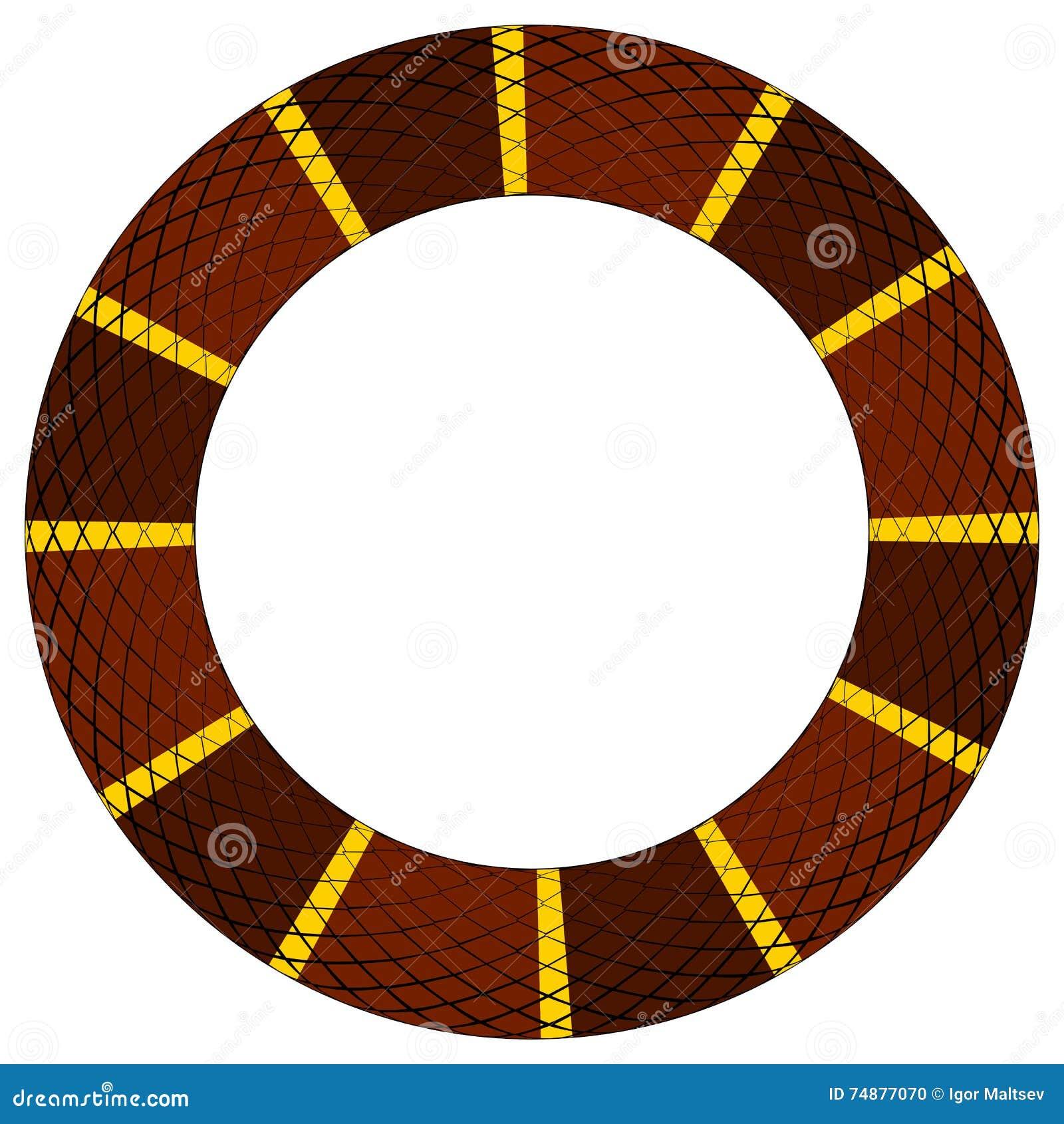 Brown e anel amarelo da serpente