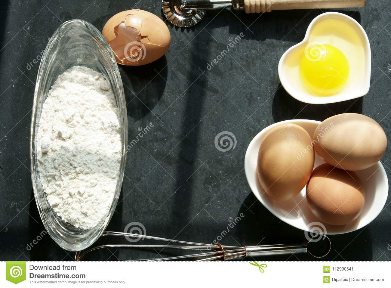 Brown eggs on a napkin.