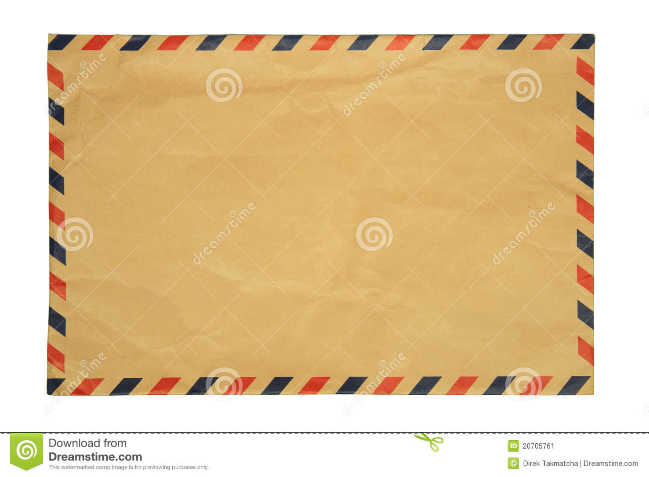 Brown Envelop Stock Image Image Of Dirty View Back