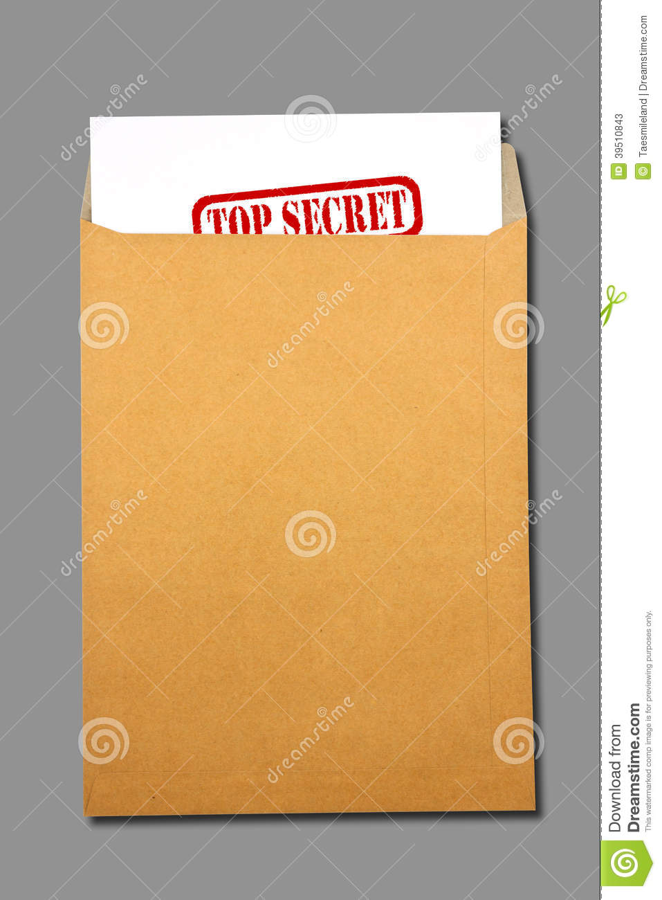 Brown Envelope document with paper