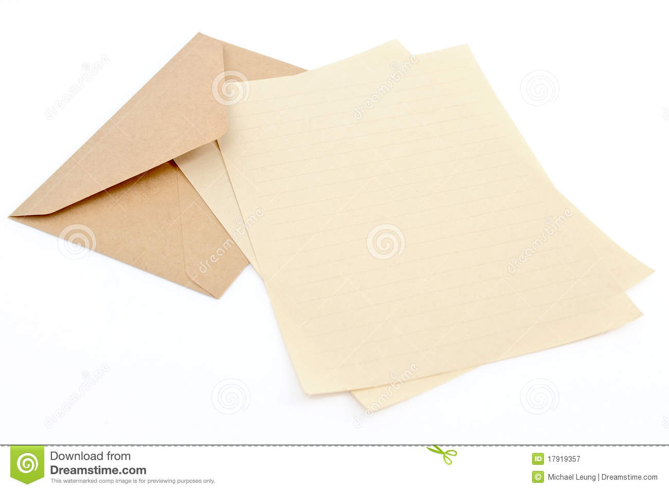 Brown Envelope With Letter Paper Royalty Free Stock