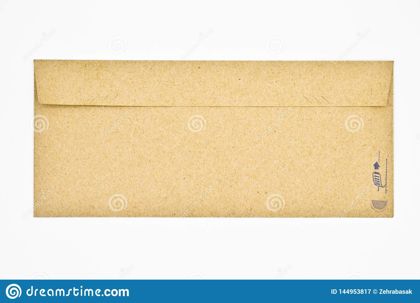 Brown et enveloppes beiges utilis?s pour le correspondance commercial