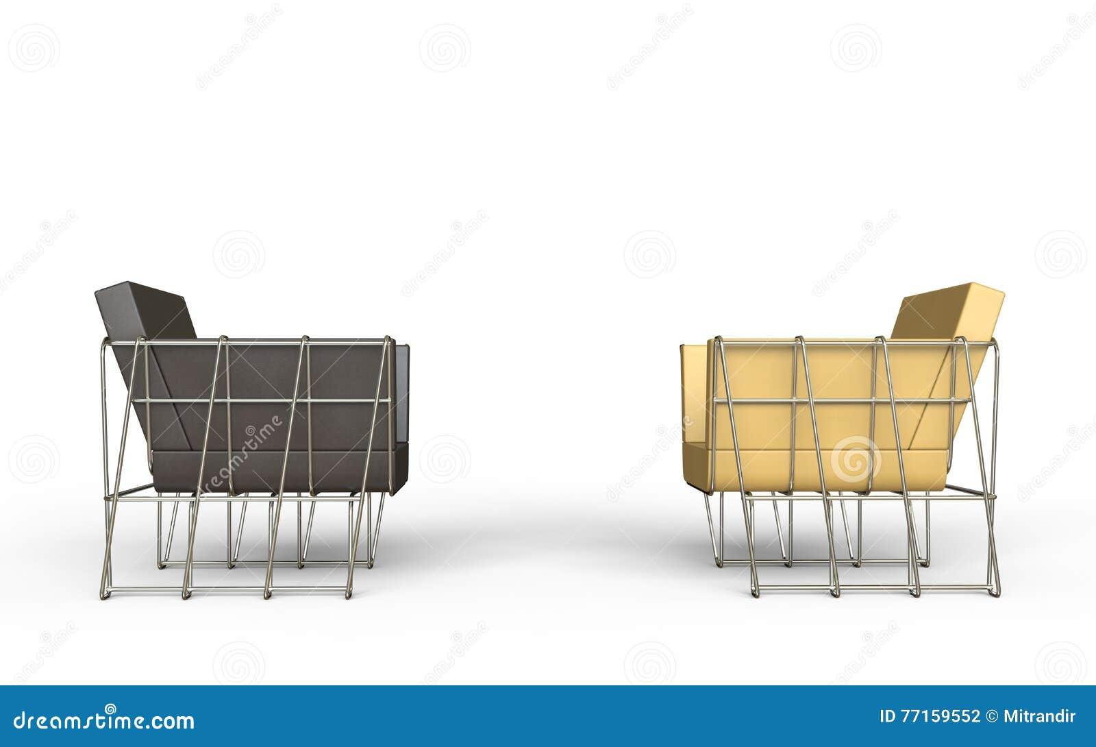 Brown et fauteuils modernes beiges