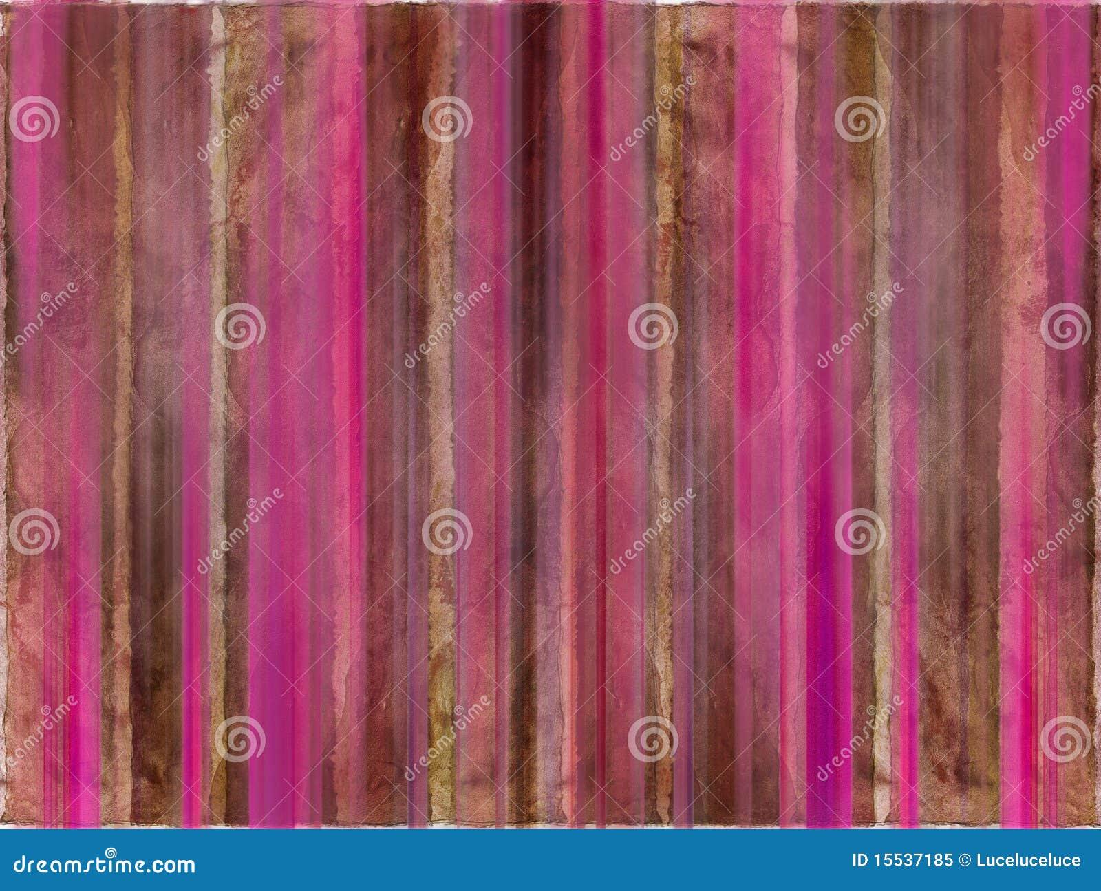 Brown et pistes roses de lavage d aquarelle
