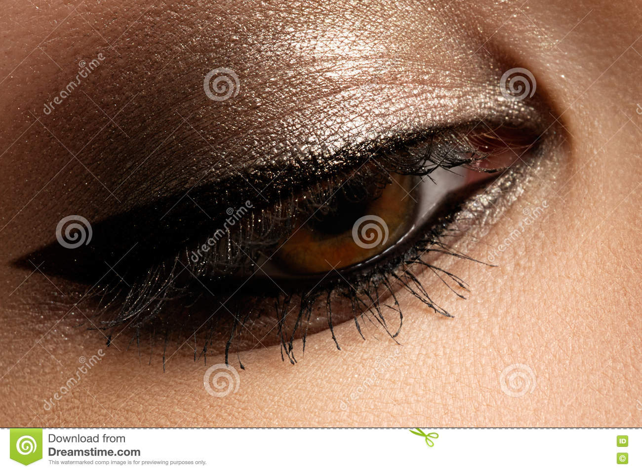 Brown Eye Makeup Eyes Make Up Beautiful Eyes Vintage Style Mak