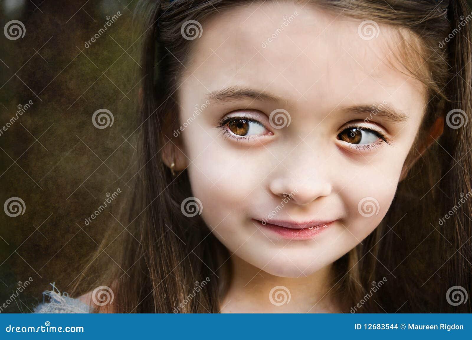 eyed facial Brown girl